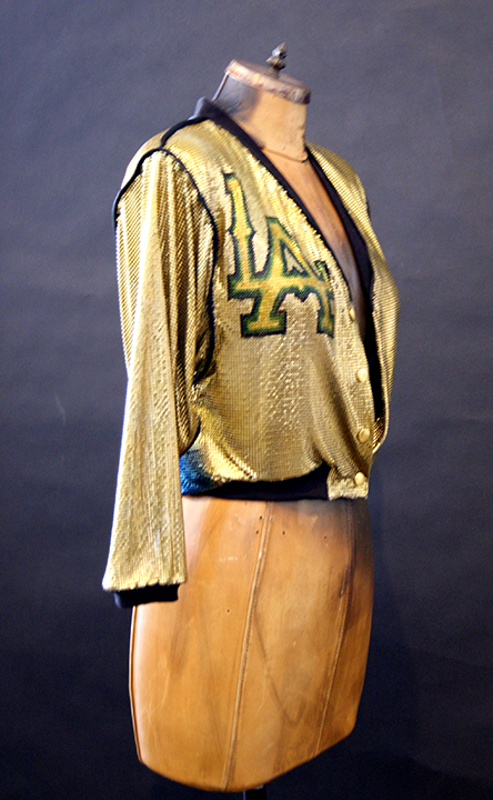Hand Painted metal mesh jacket<br>LA Lakers appearance Jan 2015<br>Stylist Nicolas Bru