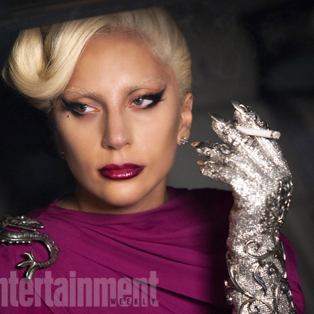 Swarovski crystal glove, sterling silver details, blade at fingertip<br>American Horror Story 2015, Entertainment Weekly magazine<br>Costumer Lou Eyrich
