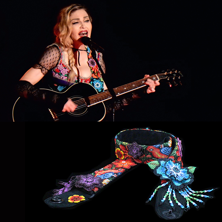Hand beaded Who's That Girl guitar strap<br>Rebel Heart Tour 2015<br>Wardrobe Design Arianne Phillips