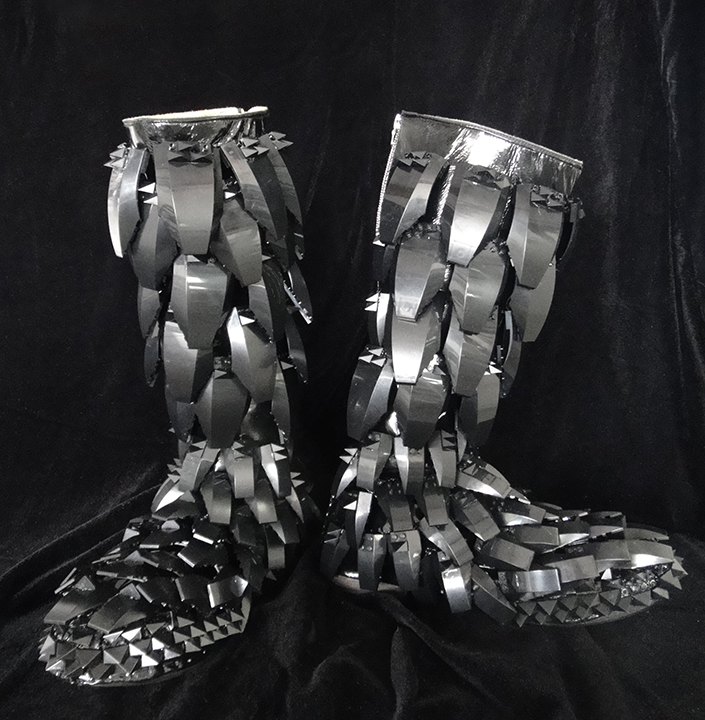 Boots for Will.i.am ~ Made from Legos<br> 'The E.N.D.' Tour designer: B. Akerlund ~ Photo: Steven LaNassa