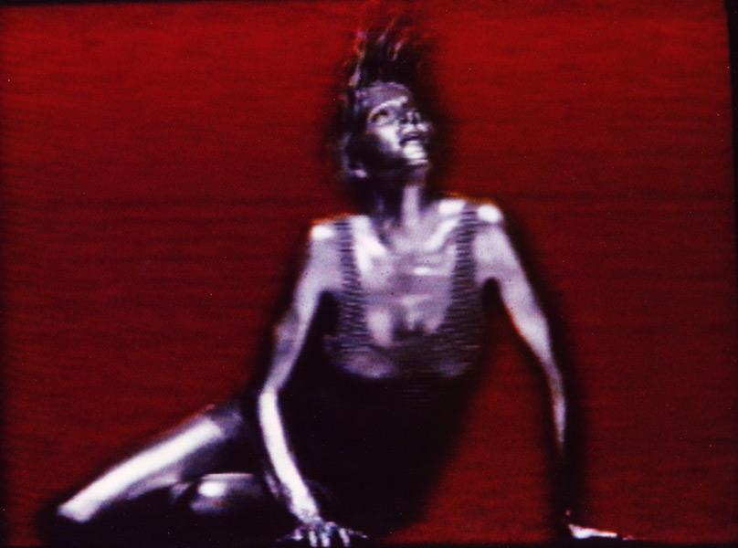 Silver chain-mail dress <br>'Fever' video 1992<br>Director Stephane Sednaoui