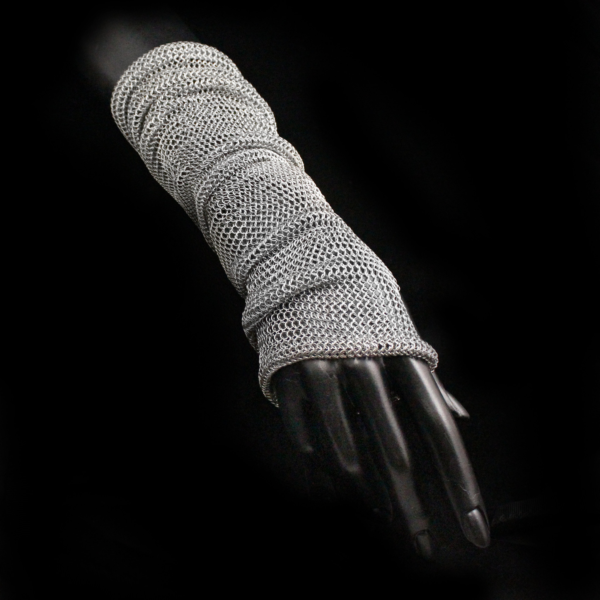 Chainmail Slouch Fingerless Glove