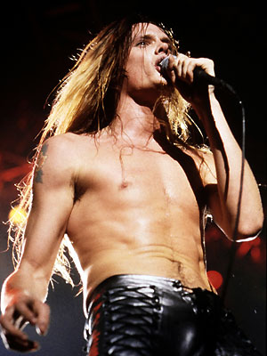 Custom black leather pants<br>Worn by Sebastian Bach 1986