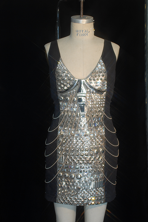 Studded and Chain-draped dress 1999