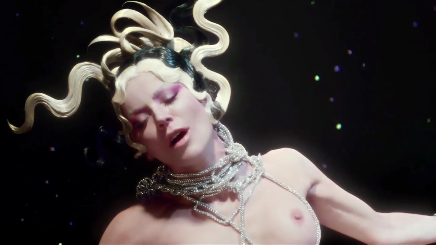 Crystal mesh rope necklaces <br>Evening In Space video Aug 2014 <br>Styling Bret Alan Nelson   <br>Photo David LaChapelle