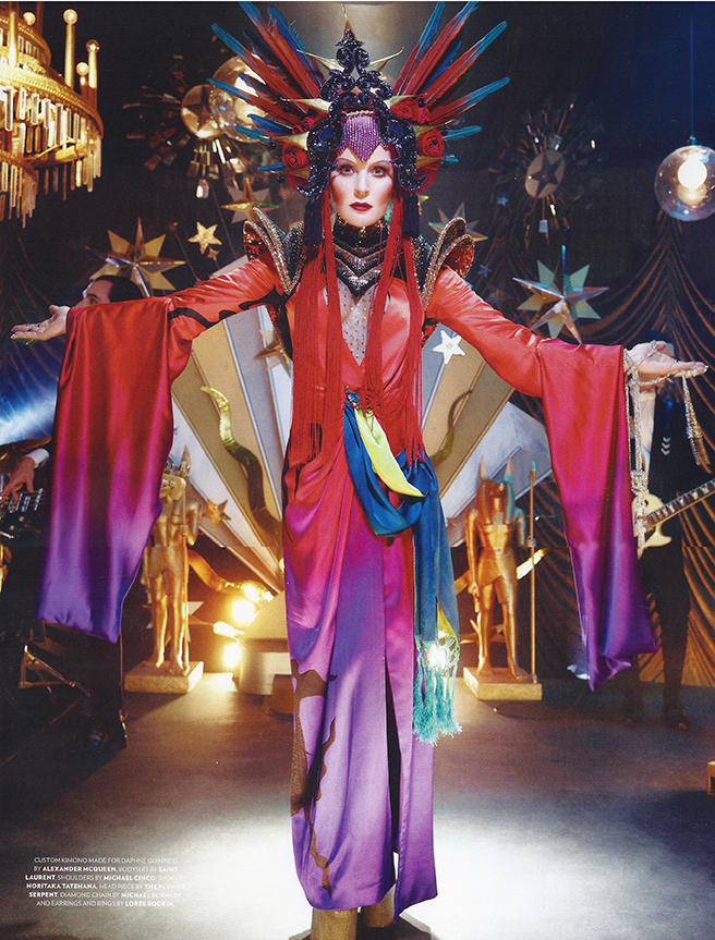 Crystal mesh sautoir necklace (in hand) <br>Flaunt Magazine Aug 2014 <br>Styling Bret Alan Nelson   <br>Photo David LaChapelle