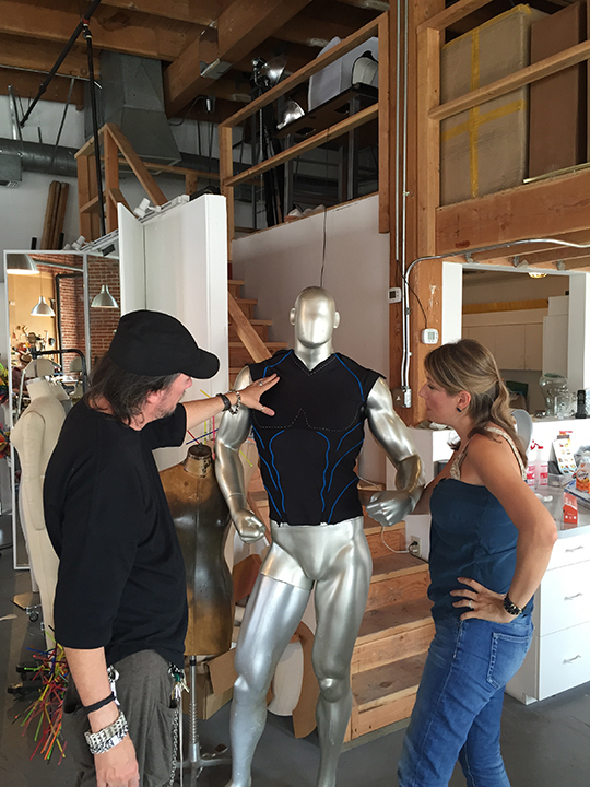 Making of custom superhero costume<br>Carved foam, spandex<br>Oikos yogurt commercial Aug 2015<br>Wardrobe Robert Behar