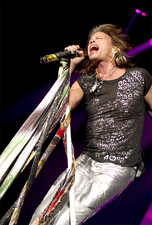 Mic scarves, crystal and studded shoes<br>Aerosmith World Tour 2010