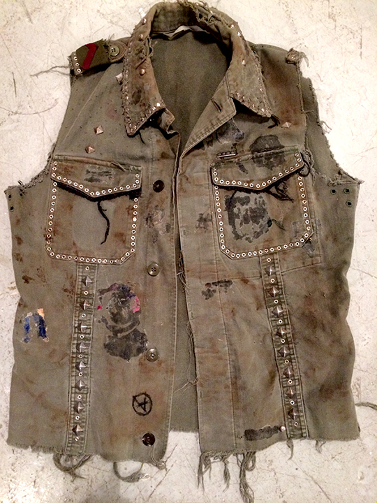Yitzhak's studded denim vest<br>Broadway & touring production 2014-Present