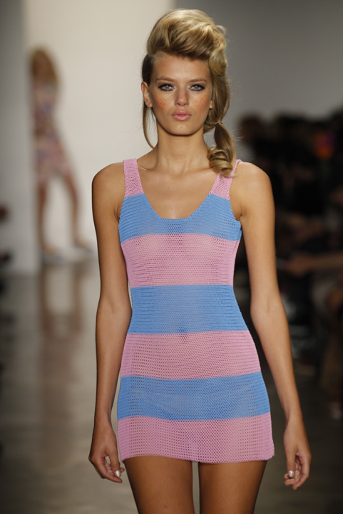 Painted Chain-maille dress <br>Jeremy Scott Fashion Show 2011