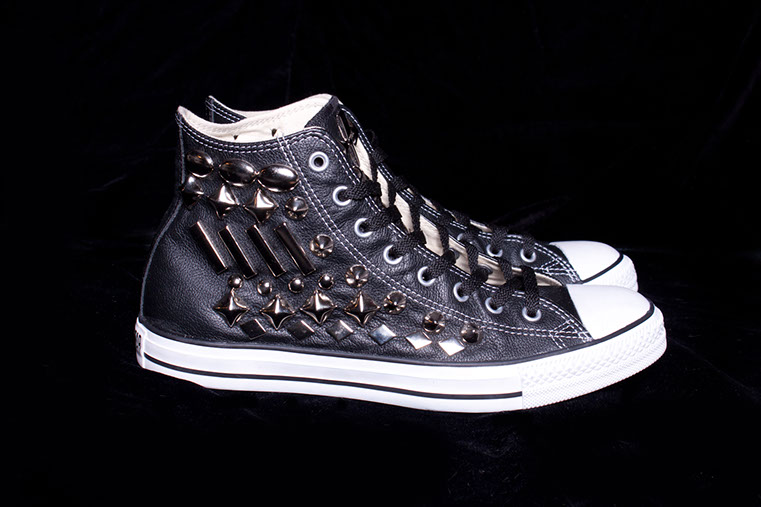 Studded Leather Converse <br>Superbowl 2012