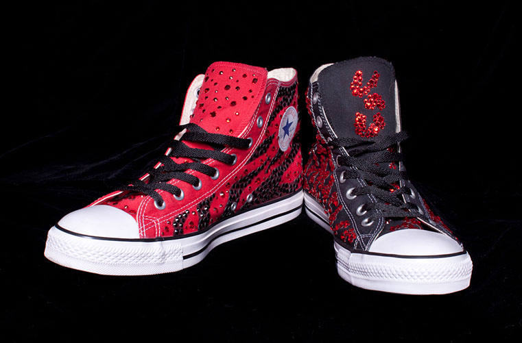Crystalled Converse <br>Superbowl 2012