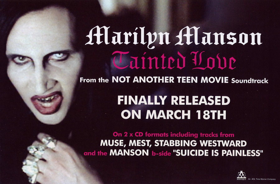 Swarovski Crystal Embellished Skull Jewelry<br>Marilyn Manson 'Tainted Love' Promo 2002