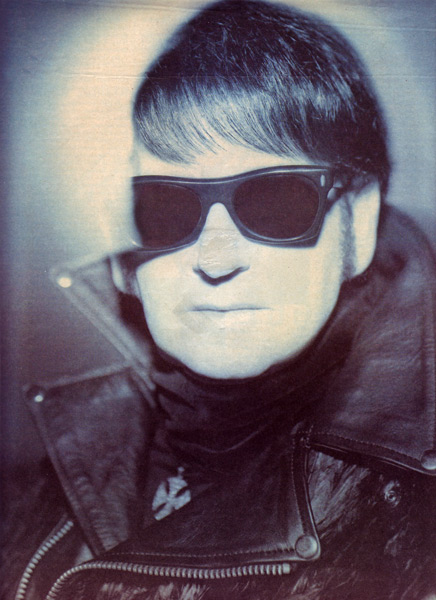 Crow's-feather Motorcycle Jacket<br>Worn by Roy Orbison <br>Rolling Stone Magazine, Jan 1989