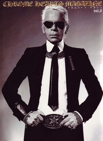 Karl Lagerfeld Silver mesh Chrome Hearts jewelry Chrome Hearts Magazine, 2008