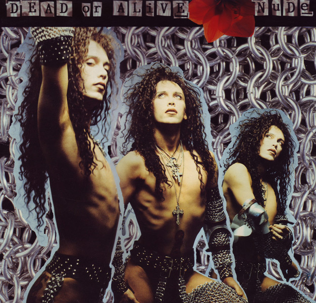 Chain-Taille chaps<br>Pete Burns/Dead Or Alive 'Nude' album cover 1988