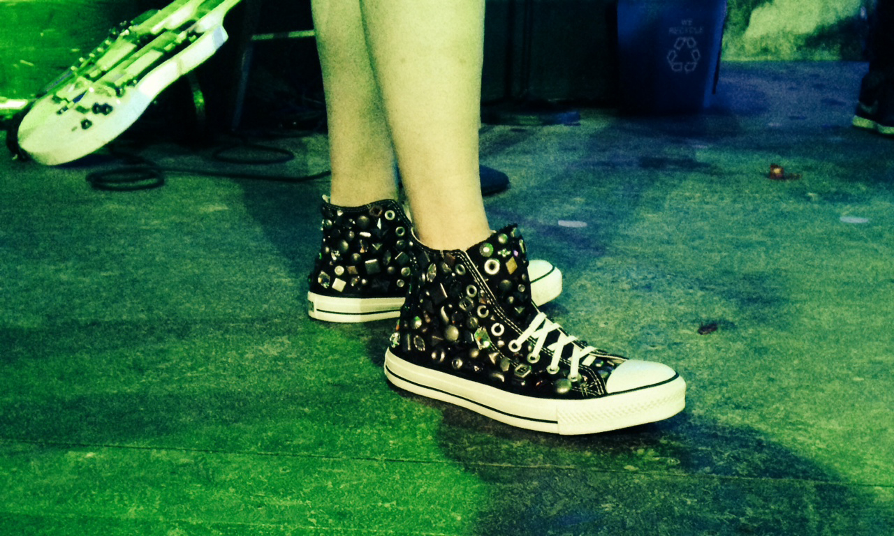 Studded shoes<br>John Cameron Mitchell, Broadway 2015