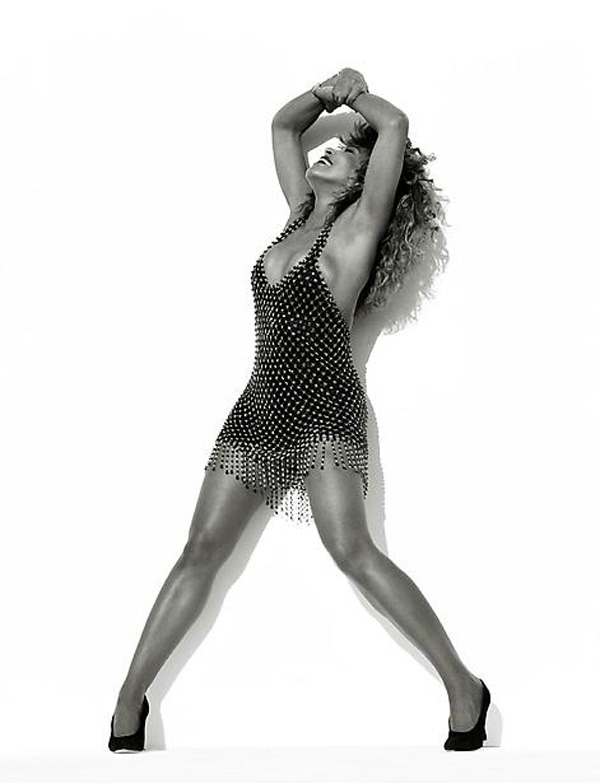 Swarovski crystal chain-mesh dress <br>Foreign Affair album centerfold, 1989 Photo: Herb Ritts